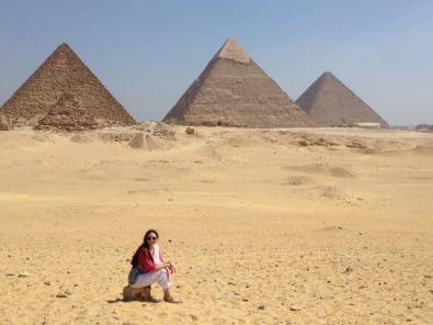 En su viaje a Egipto